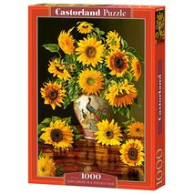 Castorland - Sunflowers In A Peacock Vase