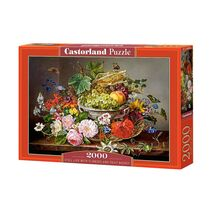 Castorland - Still Life With Flowers And Fruits Basket