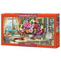 Castorland - Summer Flowers And Cup Of Tea