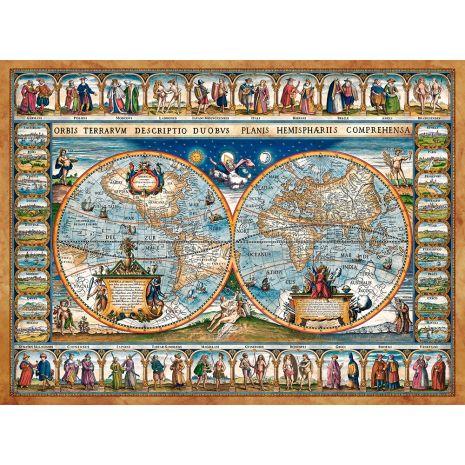Castorland - Map Of The World, 1639