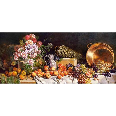 Castorland - Still Life With Flowers And Fruit On A Table