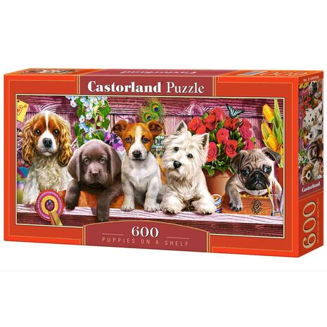 Castorland - Puppies On A Shelf
